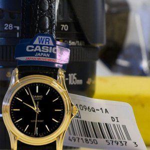 Casio MTP-1096Q-1A Men's Analog Watch Black Leathe